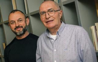 Fernando González y Emeterio Lorente fundadores de la Fundación Eddy-G