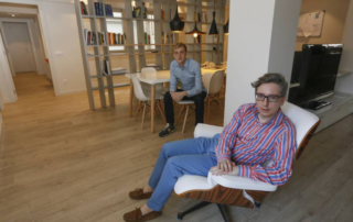 Manuel Rodenas y Edouard Louis en la Fundación Eddy-G