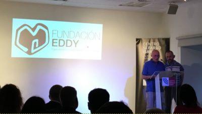 Emetario Llorente y Fernando González presentando el aniversario de la Fundación Eddy-G