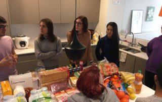 Taller de nutrición en proceso en la Fundación Eddy G