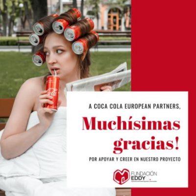 Campaña support my cause de cocacola European Partners para Fundación Eddy-G